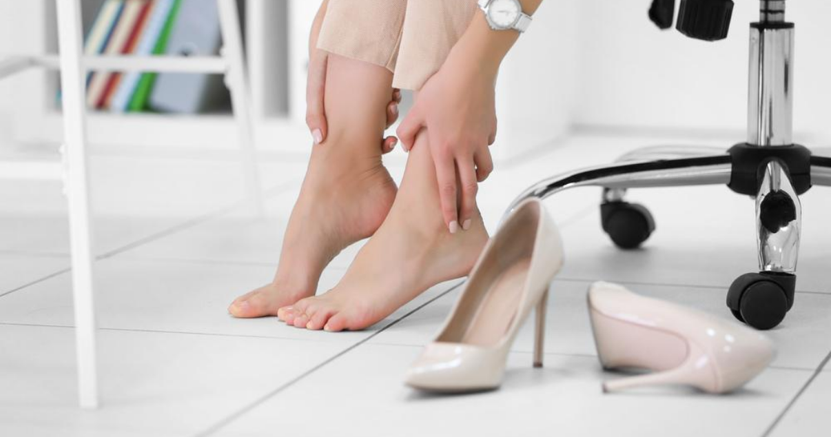 athletes foot prevention in the office by buying the formal footwear that breathes and removing it when possible