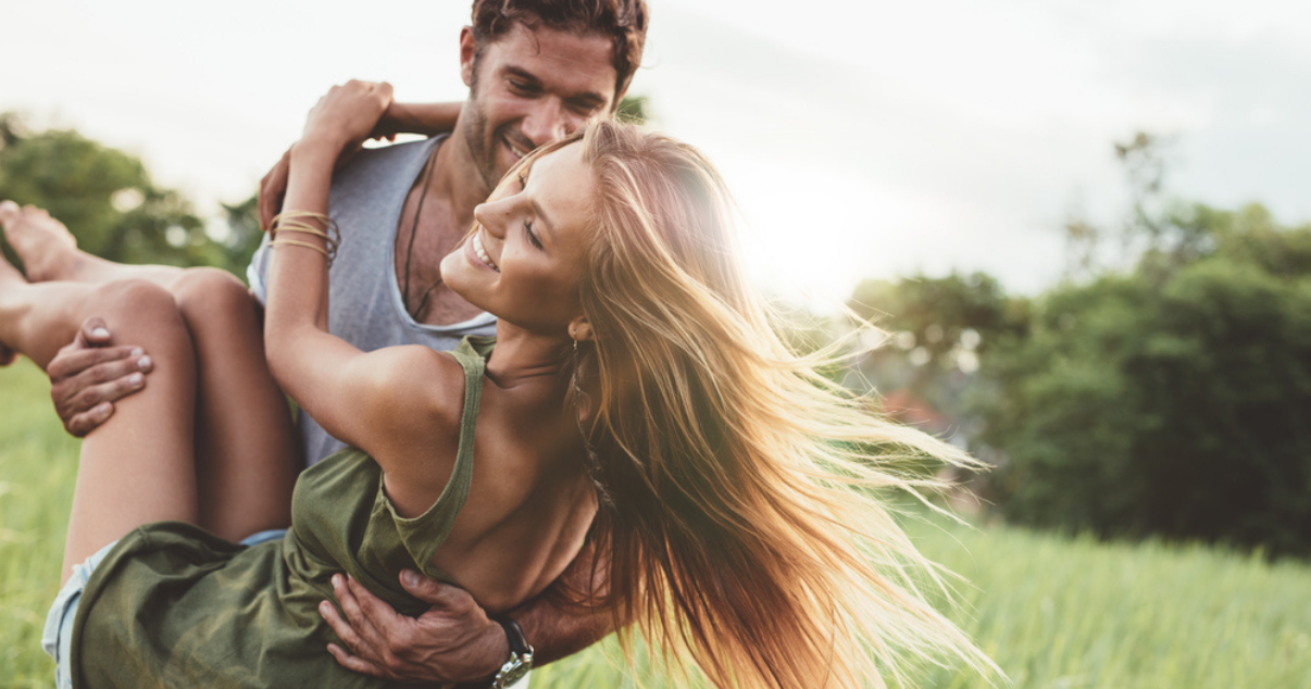 woman happy and carefree after finding out women can get jock itch and curing it