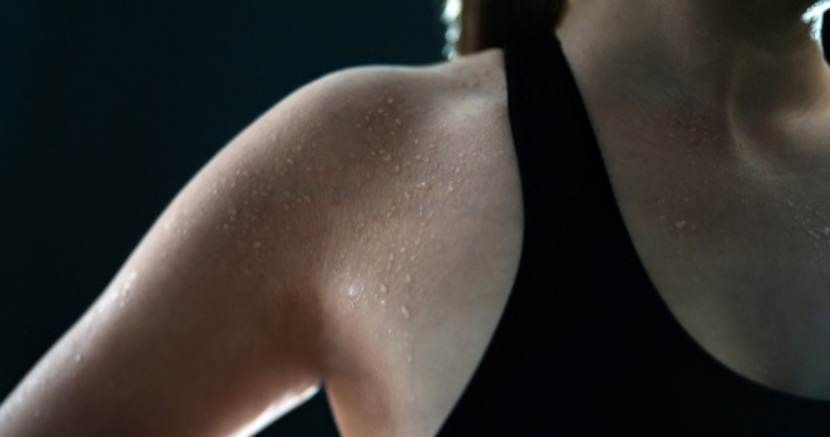 Ringworm infection caused by sweat from workout
