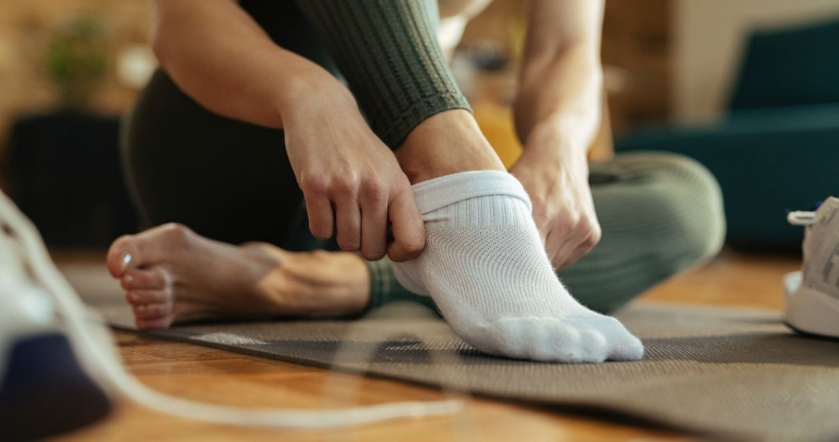 using clean socks is a type of foot care
